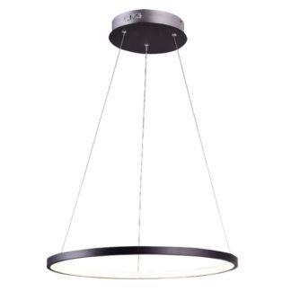 Czarna lampa wisząca Lune - panel LED