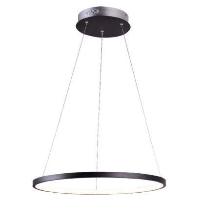 lampa wisząca led ring czarna