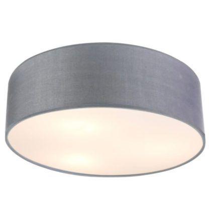 szara lampa sufitowa z abażurem