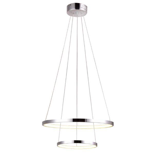 ledowa lampa srebrne okręgi