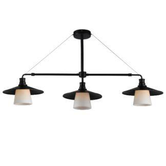 Potrójna lampa wisząca Loft - czarna, metalowa