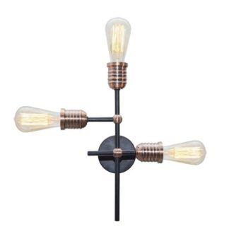 Czarna lampa Kirimu - 3 ramiona, industrialna