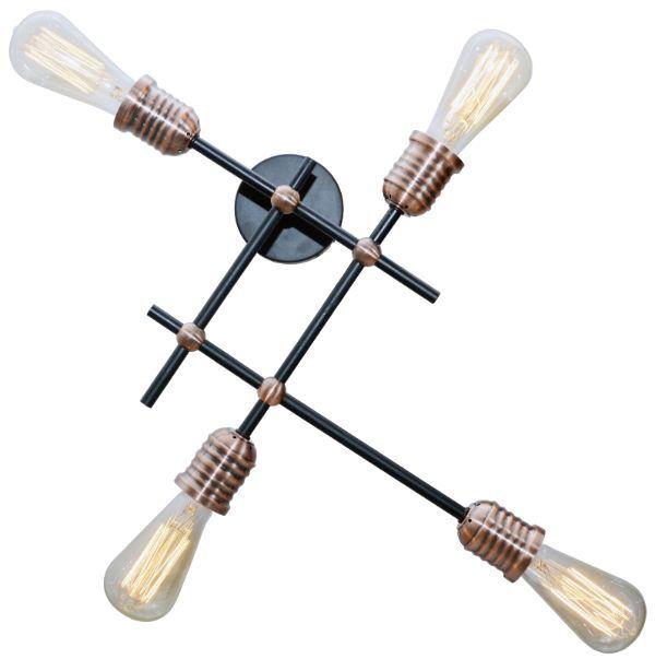 nowoczesna lampa sufitowa kinkiet metalowa