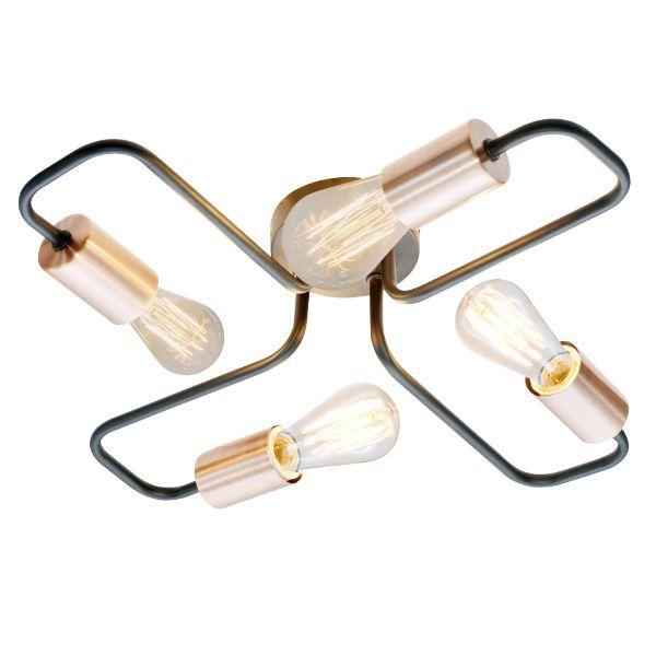 nowoczesna lampa sufitowa czarne pręty