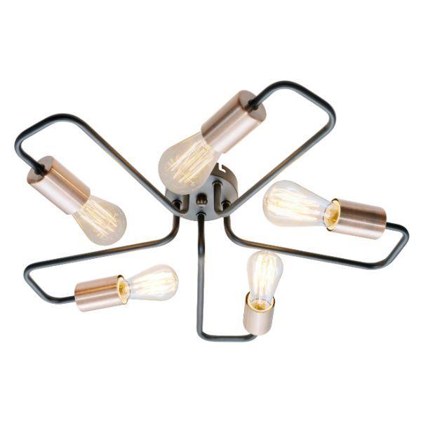 nowoczesna lampa sufitowa z prętów
