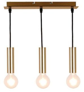 Potrójna złota lampa wisząca Dallas - mała