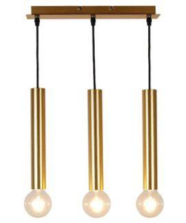 Potrójna złota lampa wisząca Dallas - duża