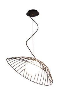 Druciana lampa wisząca Inagi - czarna