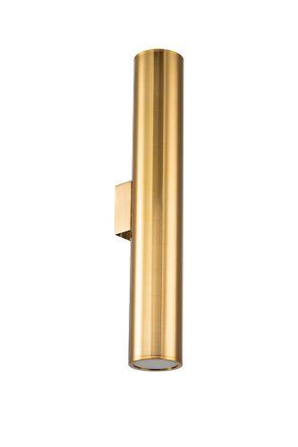 wąski złoty kinkiet tuba