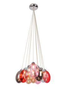 Kolorowa szklana lampa Lukka - 10 kloszy