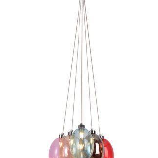 Kolorowa szklana lampa Lukka - 6 kloszy