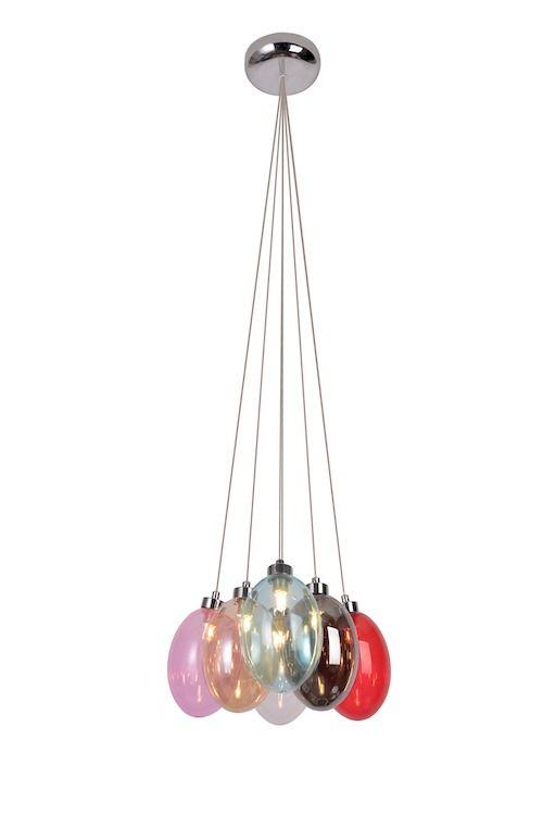 szklana lampa kolorowa