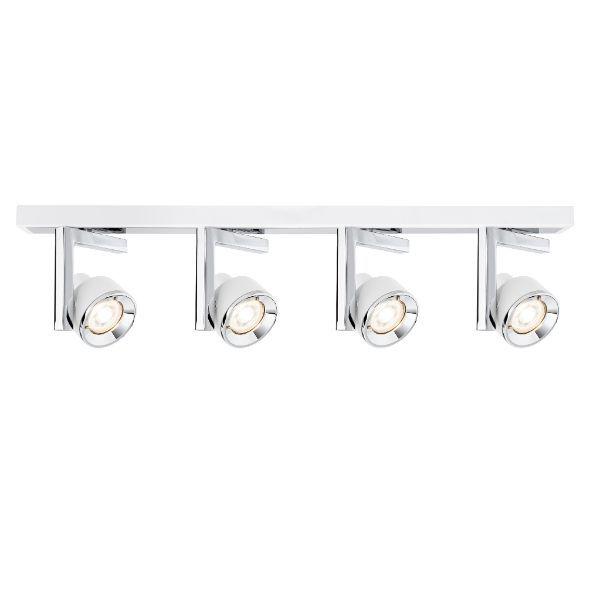biało-srebrna nowoczesna lampa sufitowa