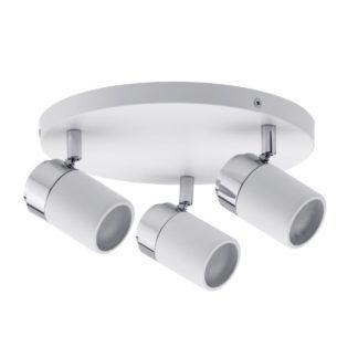 Okrągła lampa sufitowa Zyli - białe reflektory, IP44