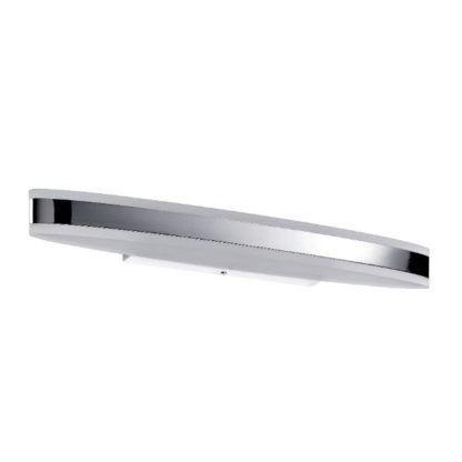 srebrny kinkiet łazienkowy LED