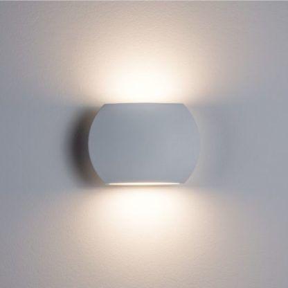 biały kinkiet dekoracyjny LED