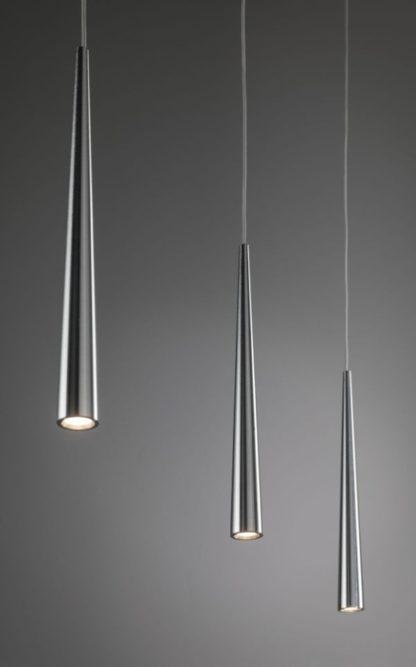 lampa wisząca srebrne stożki nowoczesna