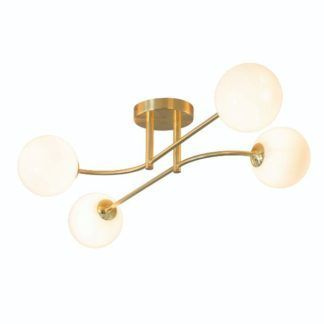 Lampa sufitowa Otto - złota, szklane klosze