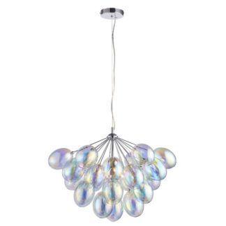 Lampa wisząca Infinity - szklane klosze, srebrna