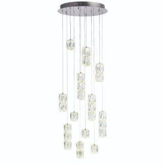 Lampa wisząca Prisma - srebrna, szklane klosze