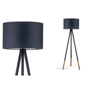 Lampa podłogowa Rurik - drewniany trójnóg