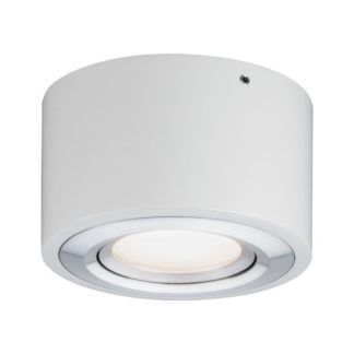 Biała oprawa sufitowa Argun - biel, srebro, LED