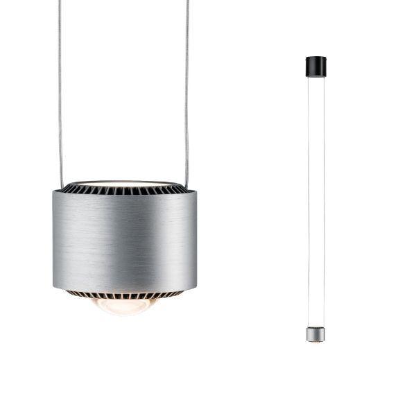 mała lampa wisząca klosz LED