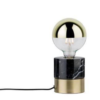 Elegancka lampa stołowa Vala - marmurowa podstawa