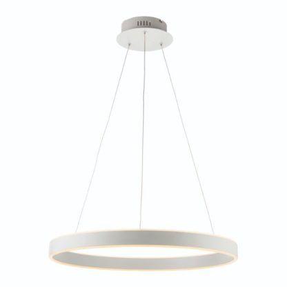 lampa led biały ring