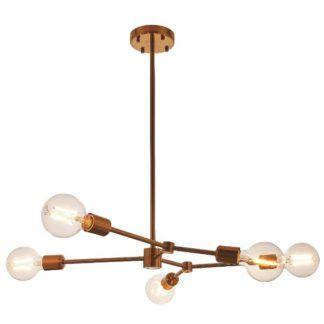 Designerska lampa wisząca Ezra - złoty brąz, nowoczesna