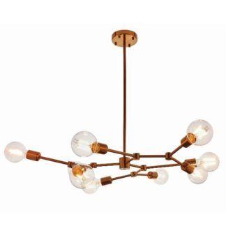 Duża lampa wisząca Ezra - złoty brąz, nowoczesna