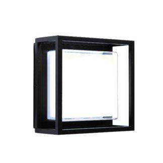 Nowoczesny kinkiet Frame - czarny, LED, IP44
