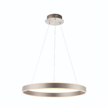 srebrny ring led lampa wisząca