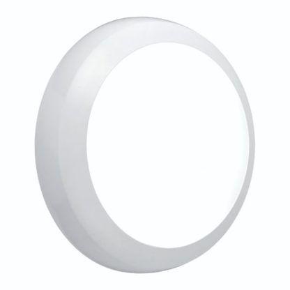 biały okrągły kinkiet