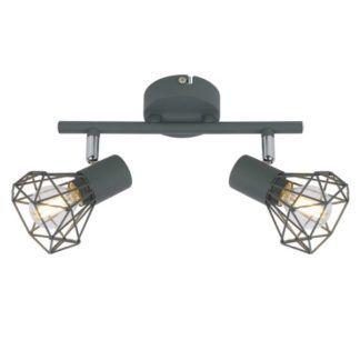 Lampa sufitowa Verve - szare, druciane klosze