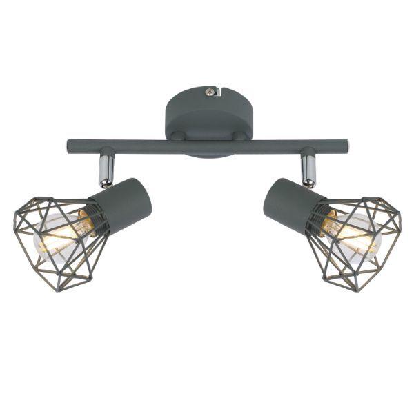 druciana lampa sufitowa szary mat