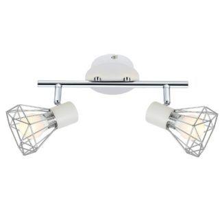 Skandynawska lampa sufitowa Verve - srebrne klosze, ażurowa