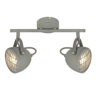 Szara lampa sufitowa Pent - industrialna, regulowana