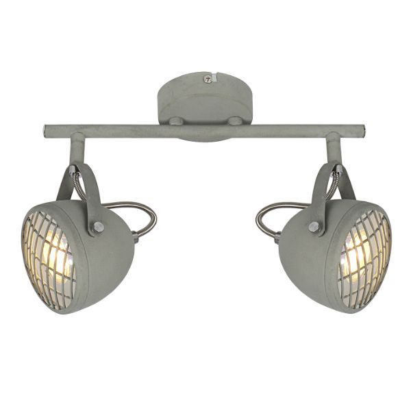 podłużna lampa sufitowa szary mat