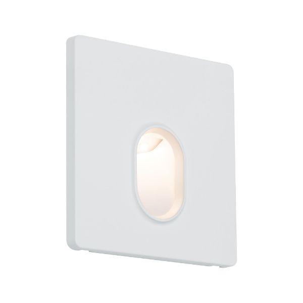 mały biały kinkiet na korytarz niski montaż
