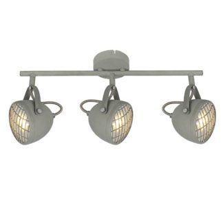 Metalowa lampa sufitowa Pent - 3 reflektory, szary mat