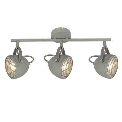 szara lampa sufitowa industrialna