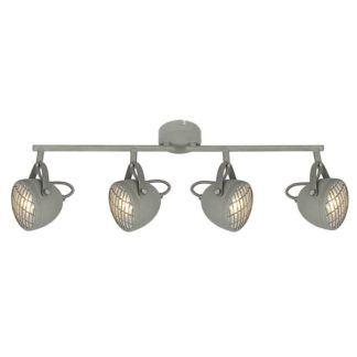 Podłużna lampa sufitowa Pent - szare reflektory, industrialna