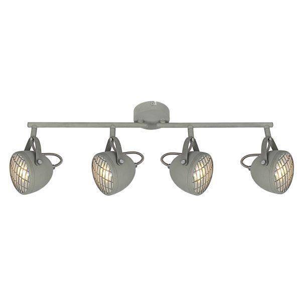 industrialna lampa sufitowa szare reflektory