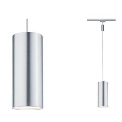 srebrna lampa wisząca system szynowy