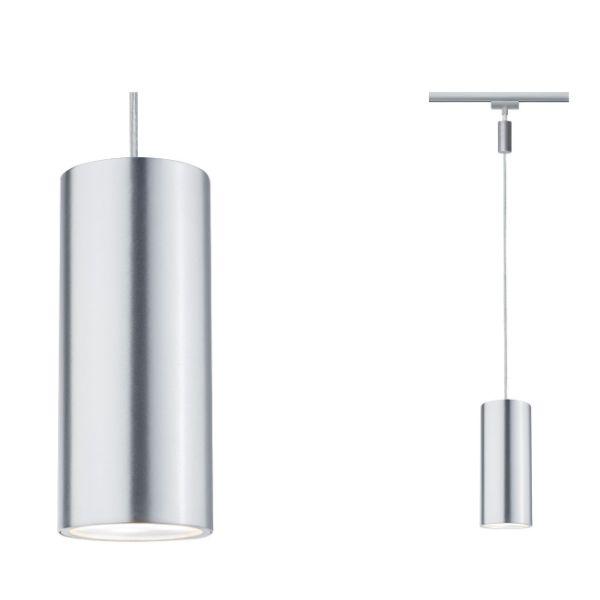 system szynowy srebrna lampa wisząca
