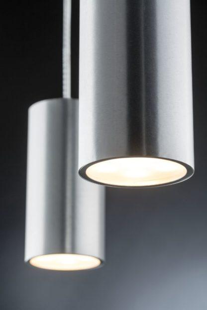 srebrna tuba system szynowy lampa wisząca