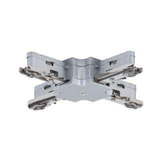 Złącze URail - X-connector, srebrne,  system szynowy