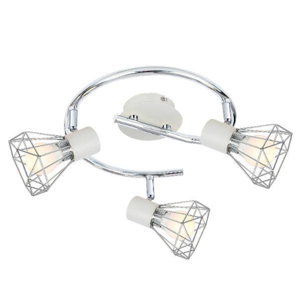 druciana lampa sufitowa srebrne klosze