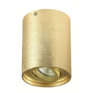 Złote oczko sufitowe Tuba Nero - regulowane